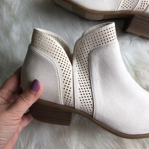 Old Navy Shoes - Old Navy • Velvety Laser Cut Booties